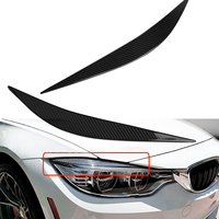 Carbon Fiber Front Eye Lid Cover Pair Eyebrows Trim Cover Accessories Car Styling Headlamp for BMW 2014 2017 F80 M3 F82 F83 M4