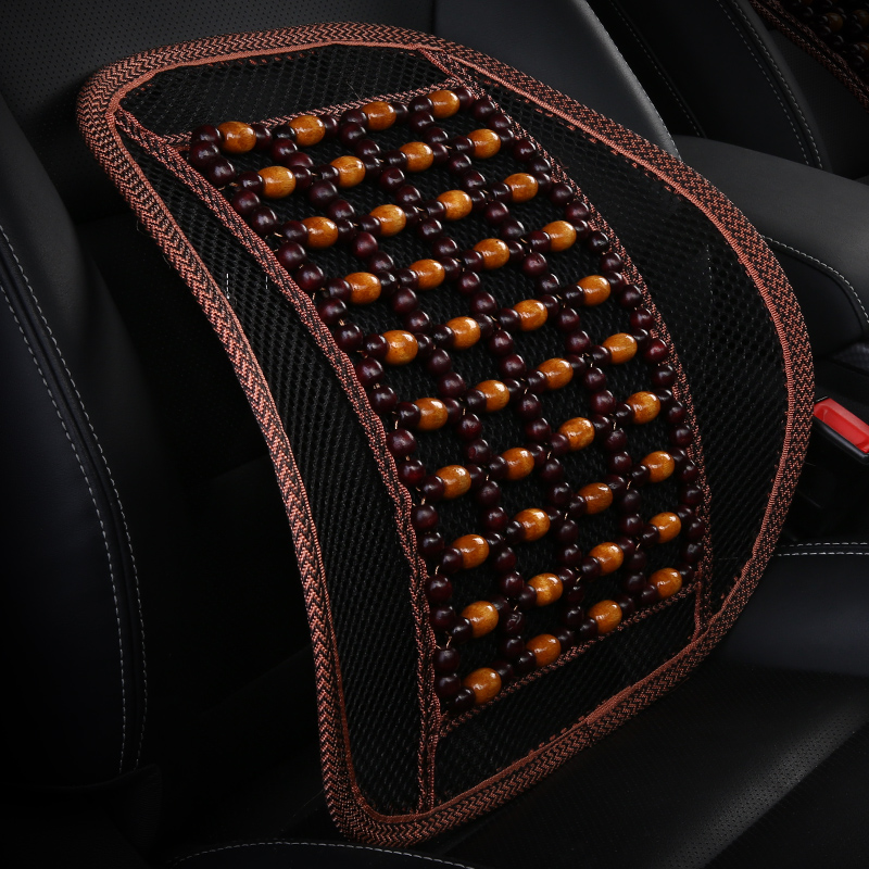 Breathable car waist cushion for leaning on of drivers wooden bead waist support summer back massage waist cushion car seat wais