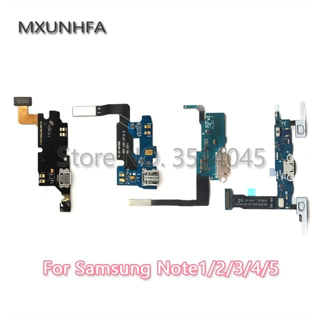 Conector de base cargador USB puerto de carga Cable flexible cinta para Samsung Galaxy Note 1 2 3 4 5 N7000 N7100 n900 N9005 N910f N920f