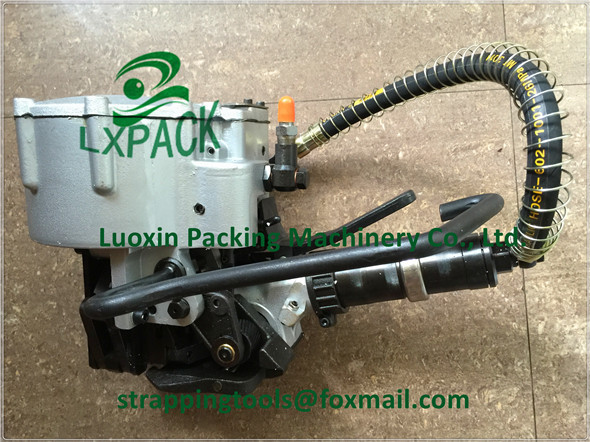 LX-PACK brand Pneumatic sealless combination steel strapping tool strapping solutions steel strapping tool pneumatic tools lx pack brand lowest factory price pneumatic combination steel strapping tools strapping machines and tools bestop hand tools
