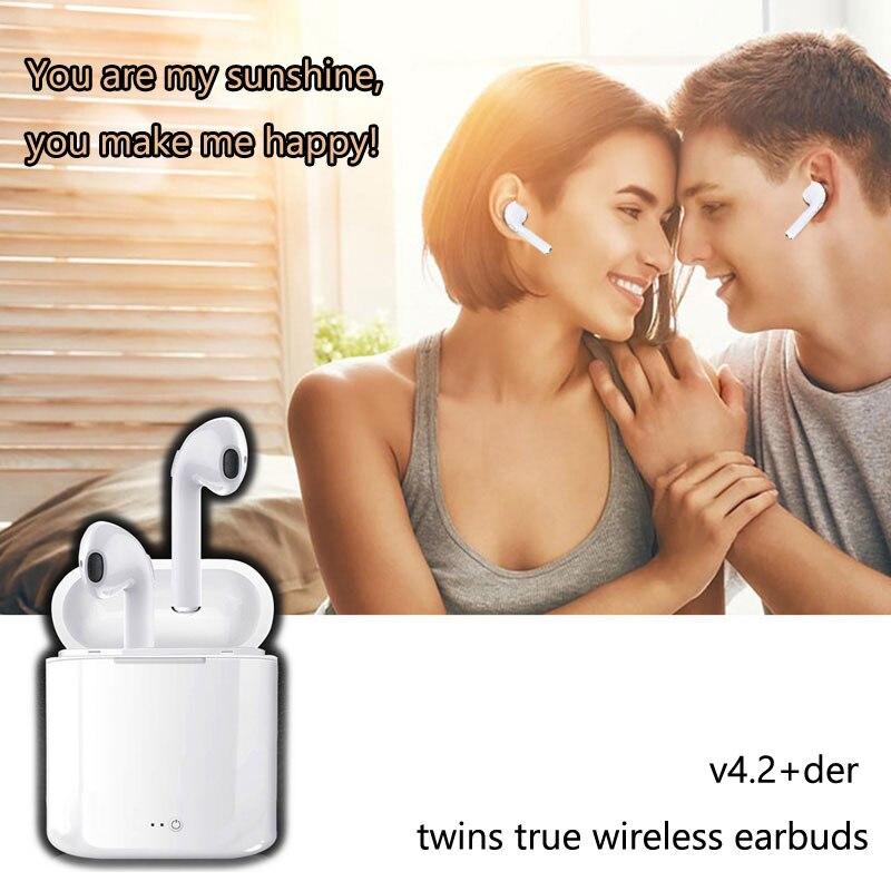DPRUI Mini v4.2+der twins true wireless earbuds Sport Headphones Wireless Earphones Bluetooth Earpiece Earbuds for Iphone
