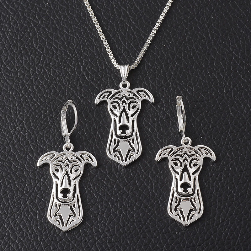 Pet Dog Necklace Set Animal Jewelry Necklace Earrings Sets Christmas Gift Jewelry Sweater Chain Necklaces