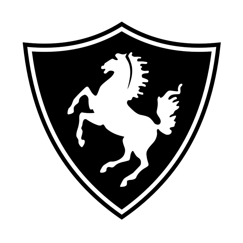 16cm*16cm Horse Logo Funny Vinyl Decal Black/Silver Car Sticker Car Accessories S6-2881
