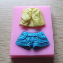 fashion suit silicone mold sugar Chocolate Mold gel soap molds