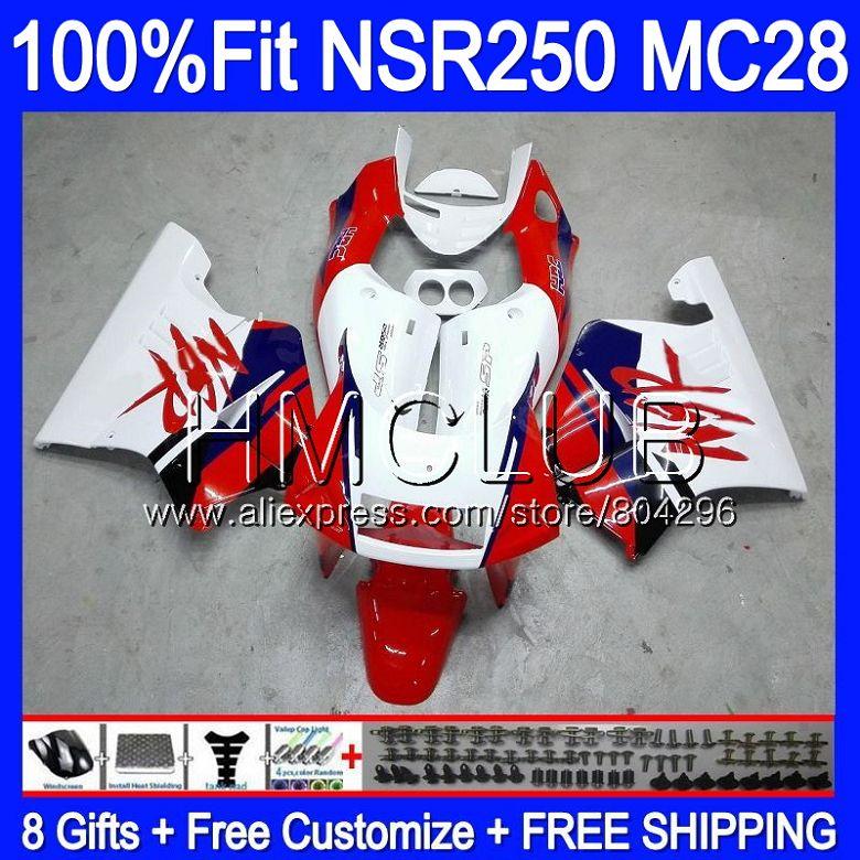 Corps Pour HONDA MC28 PGM4 NSR250R 94 95 96 97 98 99 96HM11 NSR250 R NSR 250R 1994 1995 1996 1997 1998 1999 Carénages Stock rouge N