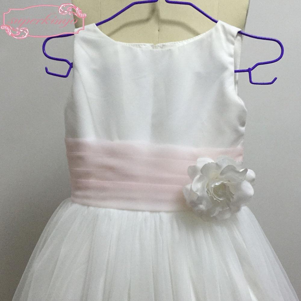 Echt Bild Kleine Mädchen Party Kleider Hand Made Blumen Tüll Weiß ...