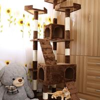 HobbyLane 5 Layers Cat Toy Scratching Wood Climbing Tree Cat Jumping Toy With Ladder Climbing Frame Cat's Furniture
