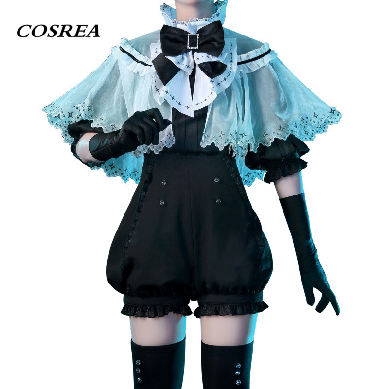 COSREA Land of the Lustrous Cosplay Costume Phosphophyllite Houseki no kuni Full Set Costumes With Bow Halloween Party For Woman