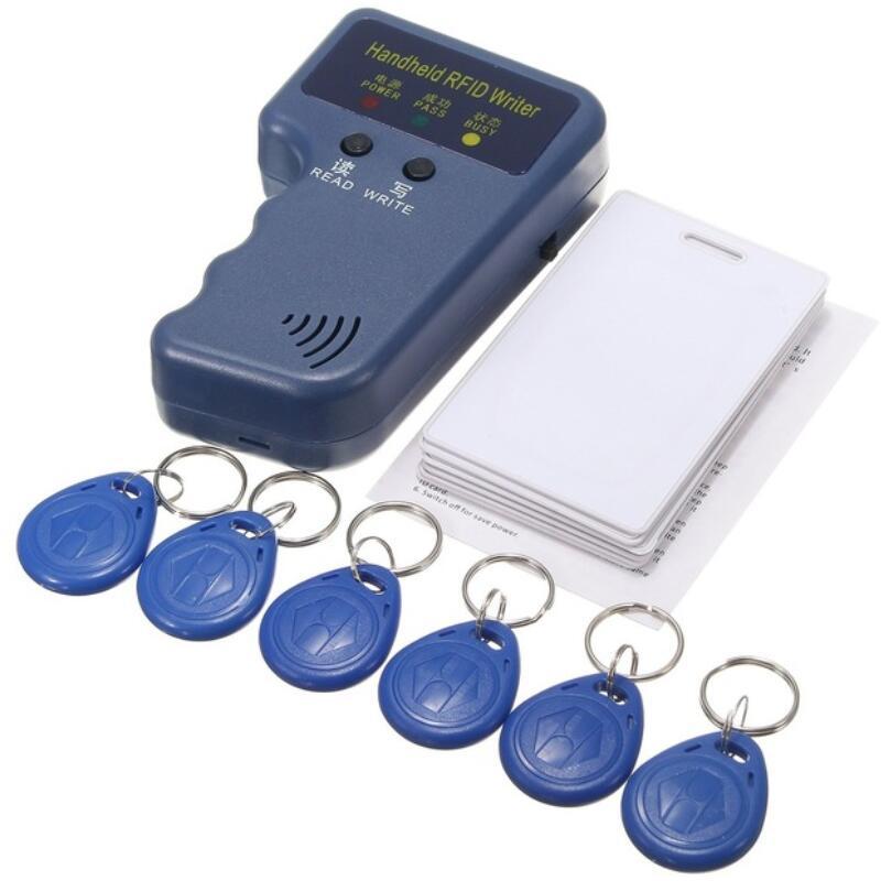 Duplicador clave de 125 KHz RFID IC copiadora de tarjeta de ID de escritor duplicador programador lector encuentro escritura EM4305 identificación Keyfobs etiqueta