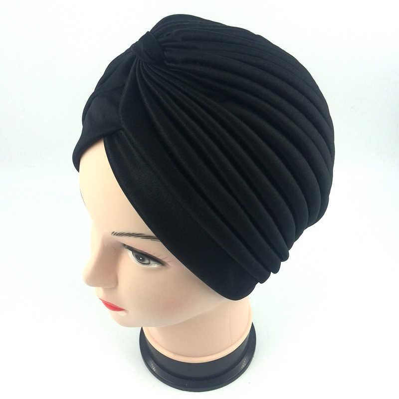 b0d6d72d71c ... 18 color Indian Style Fashion Unisex New Head Wrap Cap women turban  indian caps Cloche Hair