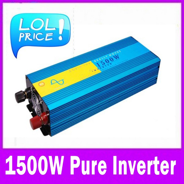 High Frequency 1500W Continuous 3000w Peak power supply Pure Sine Wave Solar Power inverter 12v to 220v off grid dc ac converter led display high frequency off grid dc to ac voltage converter 12v 220v inverter 3500w pure sine wave solar power inverter