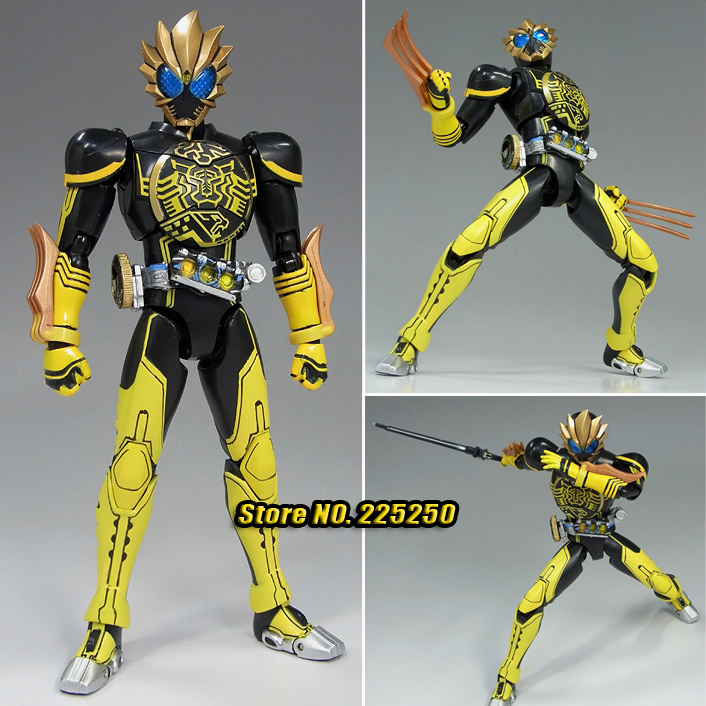 Japanese Masked Rider Original BANDAI Tamashii Nations SHF / S.H.Figuarts Toy Action Figure - Kamen Rider OOO Latorartar Combo