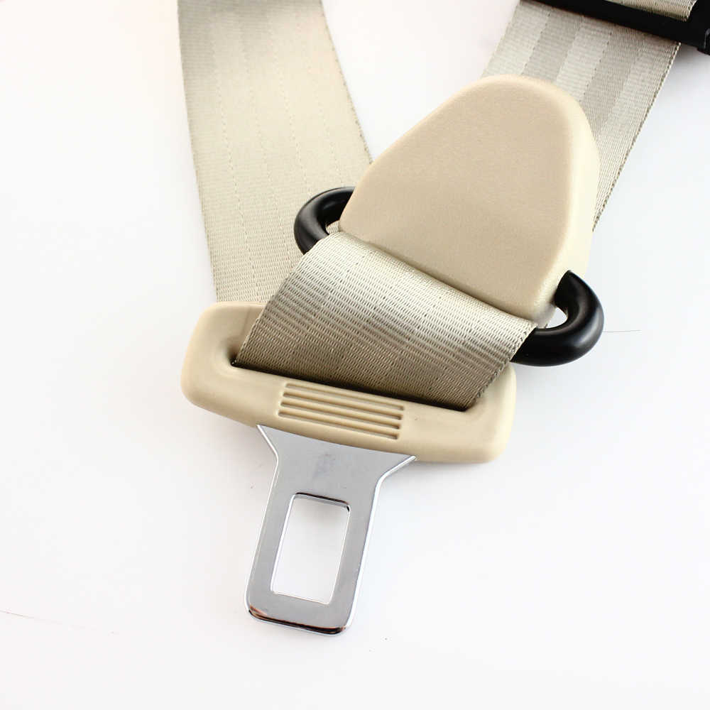 Three Point Seat Belt Adjustable Polyester Fabric Car Vehicle Truck Auto Lap Extension Extender Strap Safety Belts Black Red