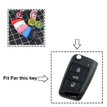 Cover in silicone telecomando/chiave per Volkswagen VW Golf MK7 Tiguan For Skoda Octavia For Seat Leon Ibiza Octavia A7 1