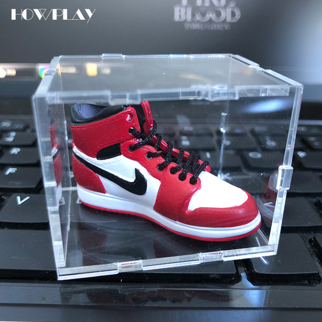 Howplay Acrylic Display Box Jordan 1 To 13 Basketball Shoes Model Cabinet Prevent Scratches And Durability