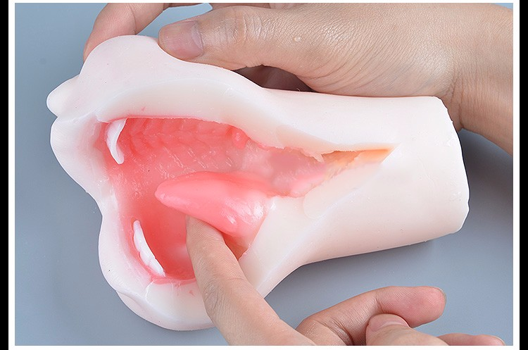 Realistic Blow Job Deep Throat Mouth Oral Male Masturbator Adult Products Artificial Mouth With Tongue Teeth Sex Toys For Men 11