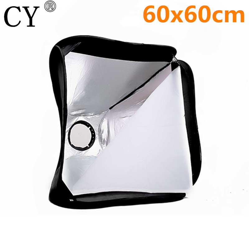 Inno New Photo Video Studio 24/60cm Portable Softbox For Speedlite + Light Stand Softbox With Support PSK3B High Quality