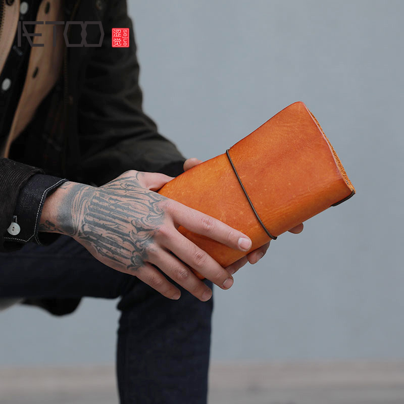 AETOO Retro hand take wallet long leather large capacity youth head layer cowhide handmade handbagAETOO Retro hand take wallet long leather large capacity youth head layer cowhide handmade handbag