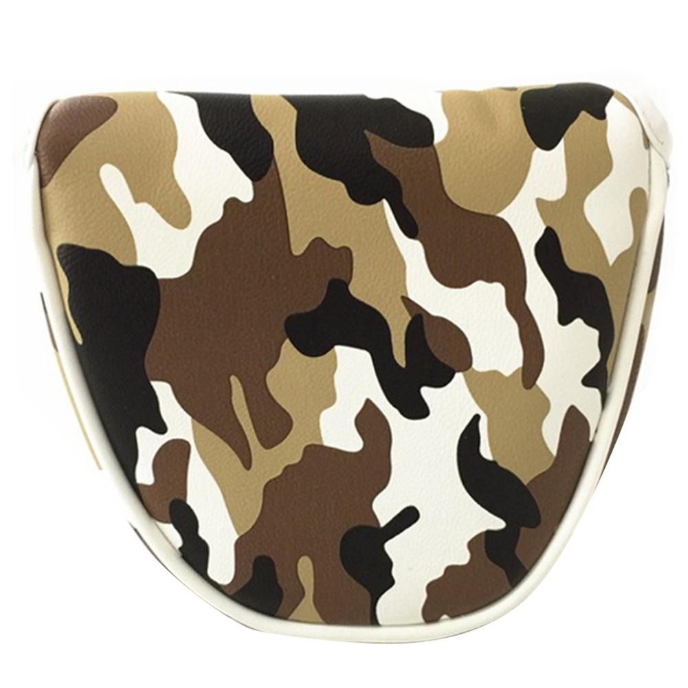 PU Leather Gift Golf Clubs Headcover Camouflage Pattern Protector Unisex Accessories Mallet Putter Cover Center Shaft Stylish