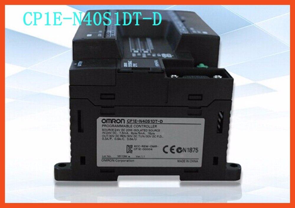 PLC CPU unit CP1E-N40S1DT-D DC24V 24 DI 16 DO Transistor CP1E N40S1DT c200h cpu03 cpu unit cpu module