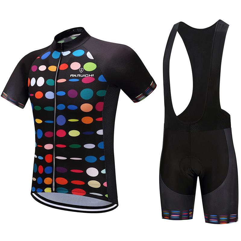 Summer Unisex Bicycle Cycling Sets Quick Drying Polka Dot 3D Padding Cushion Sport Jerseys Customized/Wholesale ServiceSummer Unisex Bicycle Cycling Sets Quick Drying Polka Dot 3D Padding Cushion Sport Jerseys Customized/Wholesale Service