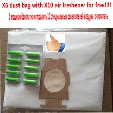 Бесплатная доставка 6 шт. пылесоса фильтр-мешок fit кирби Sentrial F/T 10 шт. освежитель воздуха бесплатно