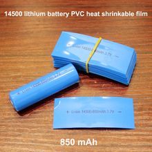 100pcs/lot 14500 Lithium Battery Heat Shrinkable Sleeve Cover Skin Pvc Film Shrink 850mah 7 4v 850mah supply of remote control aircraft flying saucer axis lithium battery 7 4v 850mah 20c jst plug 703048