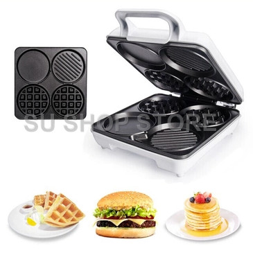Multi-Functional Waffle Maker breakfast Machine Four-Hole Muffin Machine Egg Frying Pan Pancake Machine innovative owl shape silicone egg frying mould frying pancake mold breakfast mould creative kitchen supplies for diy present