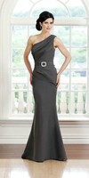 ZZ1022 2018 Arrival One Shoulder Mother of the Bride Dresses Sexy Floor Length Sleeveless Satin Mother Bride Dresses