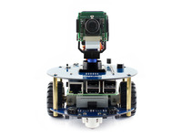 Waveshare AlphaBot2 Robot Building Kit for Raspberry Pi 3 Model B with Camera Module 16GB Micro SD Card and IR Remote Controller