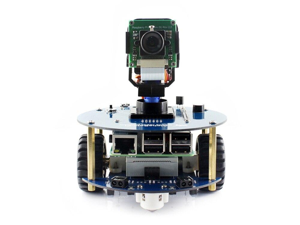 Kit de construction de Robot Waveshare AlphaBot2 pour Raspberry Pi 3 modèle B avec Module de caméra 16 GB carte Micro SD et télécommande IR