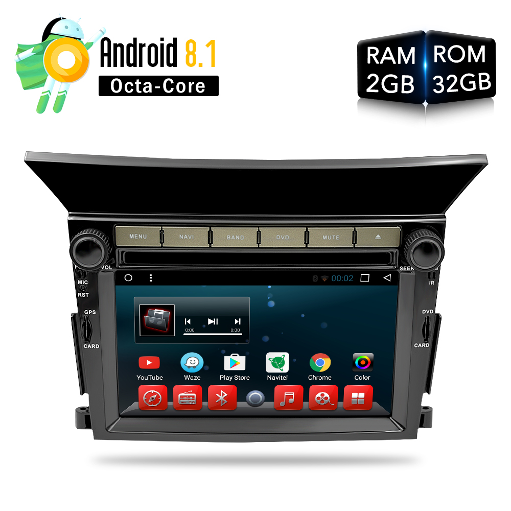 Android 8.0 8.1 RAM Voiture DVD Stéréo Lecteur GPS Glonass Navigation pour Honda Pilot 2009 2010 2011 2012 Auto Radio RDS Audio Vidéo