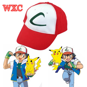 Ash Ketchum Cat Cosplay Anime Cartoon Hat Adjustable Sun Snapback Caps Halloween WXC