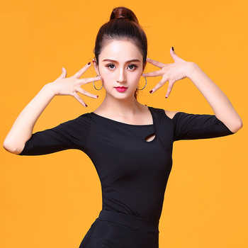 Latin Dance clothes Top for women dancers half-sleeve cutout Sexy Costume Ballroom Flamengo Practice performance wear YR0310 - DISCOUNT ITEM  10 OFF Novelty & Special Use
