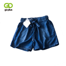 GOPLUS Denim Shorts Women High Waist Bow Elastic Wasit Casual Jeans Womens 2019 Pantalones Cortos Mujer Ladies C7499