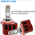 50W Hi/Lo Car LED H13 headlights 12V 24V 30V car and motorcycle lamps faros LED BULBS with turbo fan