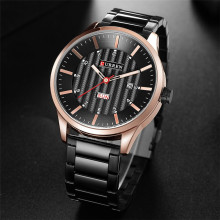 Men's Business Watches CURREN Top Brand Calendar Week Display Clock Luxury Steel Waterproof Quartz Wrist Watch Relogio Masculino все цены