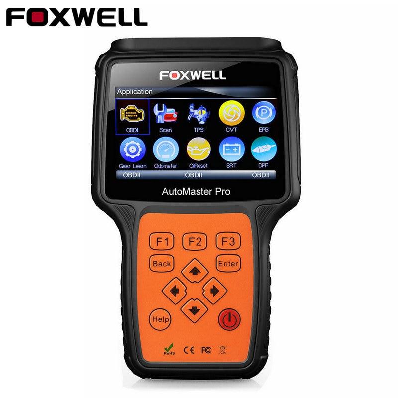 БД OBD2 полный Системы инструмент диагностики ABS Airbag SAS масла Услуги сброса EPB сканирования Foxwell NT644 автомобилей OBD 2 автомобильная сканер