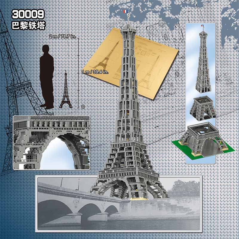 3803pcs Large Paris Eiffel Tower Model Building Kits Blocks Bricks Compatible legoINGLY Technic 10181 Toys for Children gifts