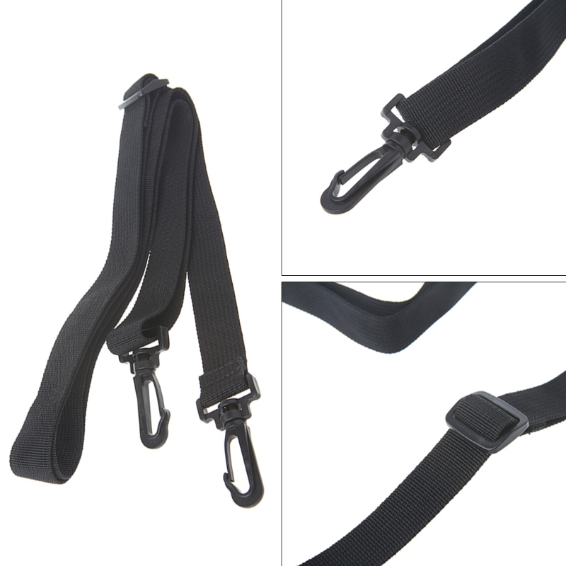 Black Shoulder Strap Replacement Camera Guitar Bag Belt Strap Adjustable Bag Shoulder Bag Strap  PP Ribbon+Plastic Buckle