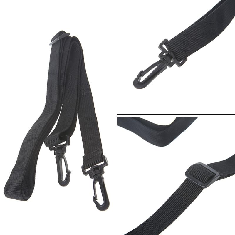 Black Shoulder Strap Replacement Camera Guitar Bag Belt Strap Adjustable Bag Shoulder Bag Strap  PP Ribbon+Plastic Buckle