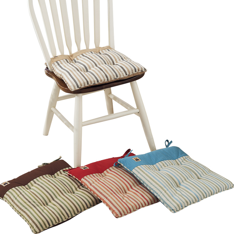 Washable Striped Office Chair Buttocks Cushion Pad Soft