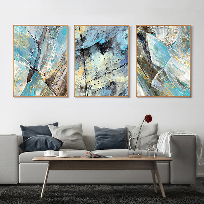 3 piece canvas painting modern abstract art home decor oil - Modern wall decor for living room ...