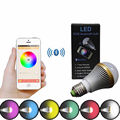 Dimmable E27 RGB Lâmpadas LED Do Bluetooth Inteligente IOS APP Android Smartphones Controlada Mudança de Cor Luzes Do Partido Decorativo