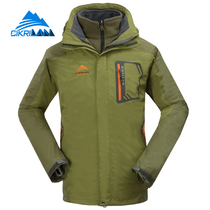 Cikrilan 2in1 Outdoor Camping Doudoune Homme Windstopper Trekking Chaqueta Hombre Hiking Ski Winter Jacket Men Sport Warm Coat цены онлайн
