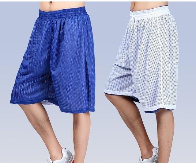 Оптовая продажа летние пляжные мужские штаны для бега уличные Бальные тренировочные двухсторонние сетчатые дышащие баскетбольные шорты для мужчин