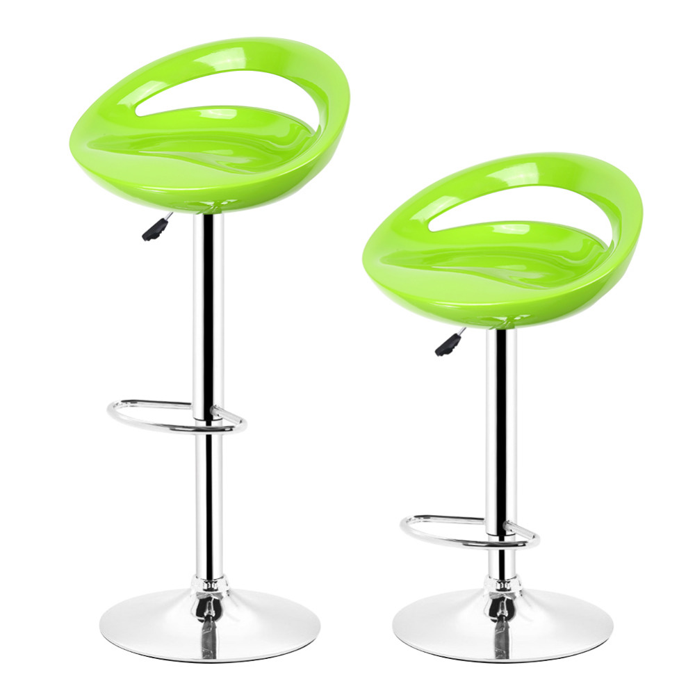 HOT SALE 2pcs/pair Adjustable Gas Lift Bar Stools ABS Plastic Seat Green Modern Living Room Chairs New Arrival HWC homall bar stool walnut bentwood adjustable height leather bar stools with black vinyl seat extremely comfy with seat back pad