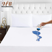 140X200CM Smooth Polyester Cotton Waterproof Mattress Protector Cover for Bed Soft Pad Premium Hypoallergenic Breathable