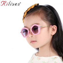 RILIXES Hipster Rivet Kids Sunglasses Children Sun Glasses Square Baby Sun-shadi