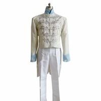 2018 Custom made Prince Charming Costume Cinderella Prince Costume 2015 New Cinderella Movie Cosplay Costume